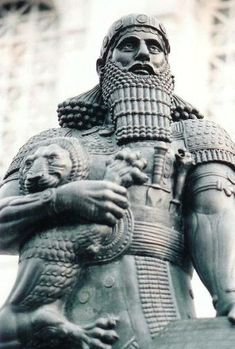Ashurbanipal- BLK. king of Assyria<---
