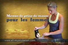 Exemples de repas pour les femmes en prise de masse
