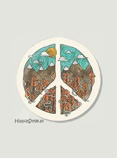 Przypinka pacyfka ETNO MOUNTAIN | Hippie Style