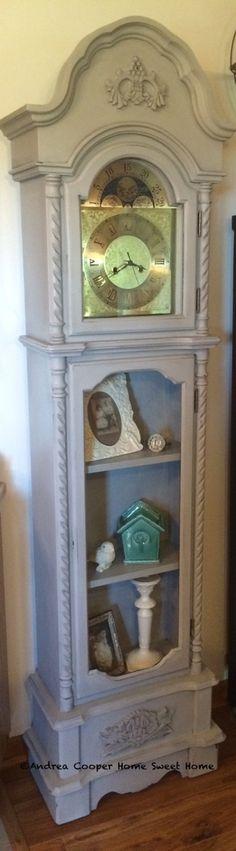 Annie Sloan Paris Grey grandfather clock redo