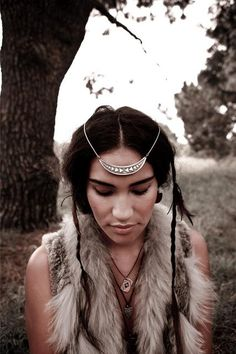 Gorgeous Native American (possibly Navajo) headpiece jewellery.