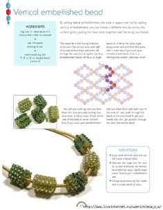 Vertical embellished bead - Beading beads