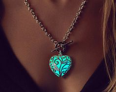 Glowing Jewelry Girlfriend Gift Valentine Glowing by EpicGlows