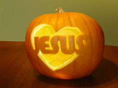 This year, consider carving a christian pumpkin that will spread God's Word to those who see it.