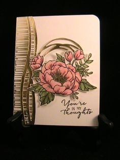 Stampin' Up! Swirly scribbles, birthday bloom, gold Watercolor