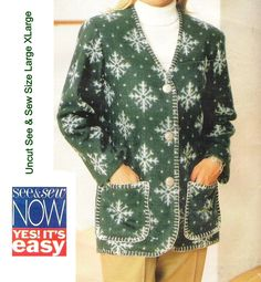 Butterick+4247+See+&+Sew+Pattern+Misses+Outdoor+Jacket+Outerwear++Uncut+Sewing+Pattern+Size+L+XL