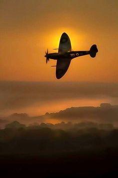 Spitfire at sunrise
