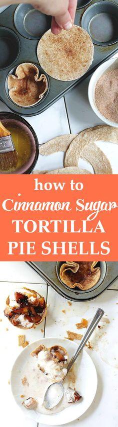 ... to make Cinnamon Sugar Tortilla Pie Shells! SO easy and SO delicious