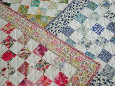 liberty fabric quilt, libertly tana lawn available from worn and washed fabrics.