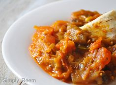 Eggplant and Tomato Stew.serving this with some left over angel hair. Veggie Spaghetti, Soup For The Soul, Angel Hair, Meatless Monday, Mondays, Soups And Stews, Chowder, Eggplant, Soup Recipes