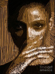 Studio Portrait In Pencil 37 Digital Art by Rafael Salazar