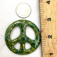 Forest Glass Peace Sign FREE Shipping Necklace by ChristaJoGlass