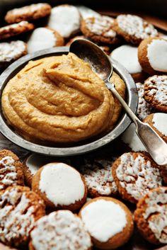 Creamy Pumpkin Dip made with cream cheese, pumpkin puree, and pumpkin pie spice.
