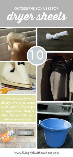 Other Uses for Dryer Sheets | Dryer Sheet Hacks | Life Hacks | Kitchen Hacks | Car Hacks | Cleaning Tips