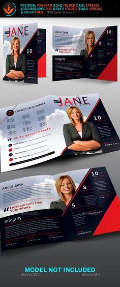 Political Election Brochure Template - Corporate Brochures - political brochure