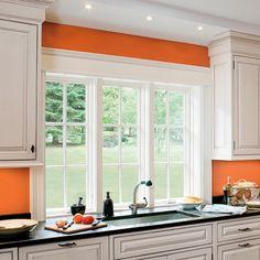 multiple windows above kitchen sink