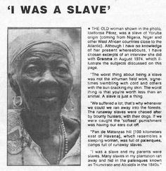 """I WAS A SLAVE"" The life of slavery in Cuban Latin America"