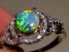 Australian black opal ring.