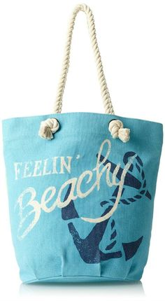Feelin' Beachy...Beach Bag with Saying: http://beachblissliving.com/best-beach-bags/