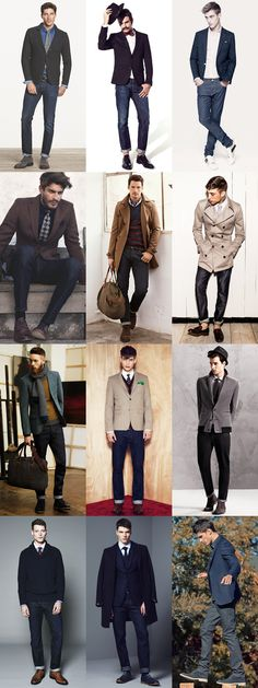 Men's Smart-Casual and Formal Denim Jeans Outfit Inspiration Lookbook