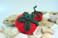 Collectible Tomatoes Toy Play Food Knitting Amigurumi by etty2504,