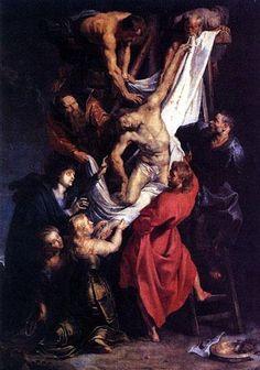 Pierre-Paul Rubens (1577-1640), La descente de croix, huile sur toile, 1614 « Le peintre des rois et le roi des peintres », peintre flamand et diplomate de talent, Rubens avait un goût prononcé pour les grandes compositions et la couleur.