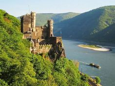 The Burg Rheinstein is a castle near the town of Trechtingshausen in Rhineland-Palatinate, Germany.