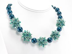 Opulent Octahedron Necklace - Cindy Holsclaw - Bead Origami