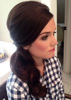 Classic Low, Side Ponytail. Great for prom or wedding. =)