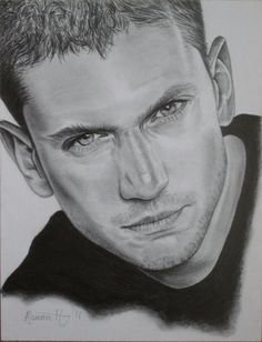 Prison Break Wentworth Miller Pencil Portrait by ReenaH78.deviantart.com on @deviantART