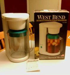 West Bend #6050 WHITE 2-QUART 625W ICE TEA MAKER w/PITCHER in Home & Garden, Kitchen, Dining & Bar, Small Kitchen Appliances | eBay