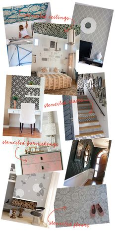 The It Girl Project featured this lovely graphic of our wall stencils last year. Just ran across it again on Pinterest. Woohoo!!