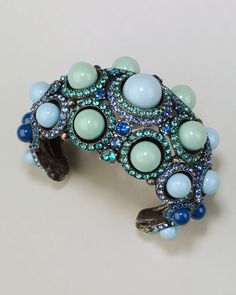 ~~ Cabochon Crystal Cuff Blue ~~ Lanvin ~~ now this is a statement cuff!
