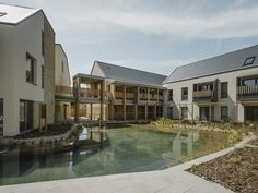 Proctor & Matthews' later living scheme draws on Cotswolds vernacular Outdoor Swimming Pool, Swimming Pools, Architects Journal, Wellness Resort, Ground Floor Plan, House Blueprints, Bedroom Layouts, Facade, Mansions