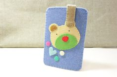 SALE  Bear Face Felt iPhone Case. Unisex Felt by NariDesignPot, $31.00