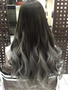 Korean Hair Color Ash, Ash Gray Hair Color, Grey Ombre Hair, Hair Color For Black Hair, Hair Streaks, Asian Men Hairstyle, Hair Arrange, Cool Hairstyles, Japanese Hairstyles