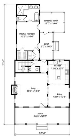 Main Level Floor Plan Southern House Plans Country Craftsman