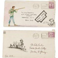John Severin - Illustrated Letter and Envelope