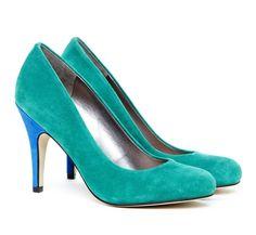 Casey round toe pump--love the heel color too!