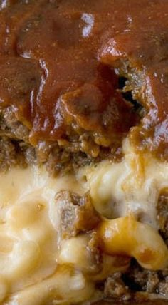 Macaroni Cheese Stuffed Meatloaf
