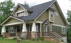 House Exterior Colors Brown Roof Craftsman Style 43 Ideas For 2019 Craftsman Exterior, Craftsman Style Homes, Craftsman Bungalows, Modern Exterior, Interior Exterior, Exterior Design, Craftsman Farmhouse, Craftsman Houses, Bungalow Exterior