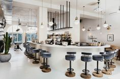 A revamped fire station in Chiswick - high quality dining replaces the fire trucks more