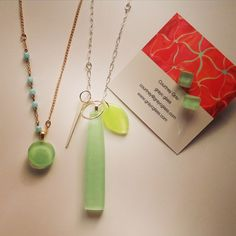 Mint green love!  #graycglass #shop #shoplocal #green #picoftheday #jewelry #makers #custom #designer