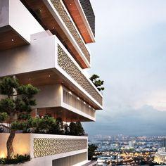 #huniarchitectes #vietnam #danang  #fptuniversity #alphabuilding #books #architecture #vietnamarchitecture #penrose #balcony