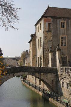 Canal des Tanneurs, Dole, Franche-Comte, France