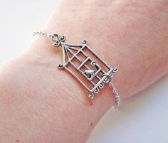 Cage Bracelet bird cage bracelet caged bird by RobertaValle, $9.00