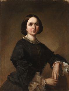 Federico de Madrazo, attr.  Winnefred Cogham, wife of Valeriano Domínguez Bécquer  ca. 1858.  Repository unknown