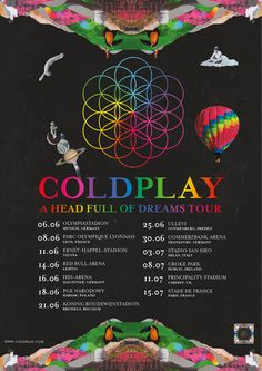 Coldplay announces UK and Europe Tour dates of 2017 #coldplay #AHFODtour #coldplay2017 26.6. Ullevi /Göteborg