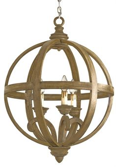 Axel Orb Chandelier Lighting | Currey and Company---possible lt fixtures over island