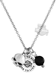 Harley-Davidson® | HDN0267 | Harley-Davidson® Womens .925 Silver Wild Child Mini Charms Necklace by Mod Jewelry